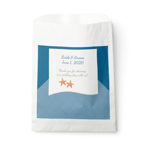 Nautical Starfish Wedding Favor Bags