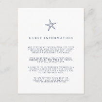 Nautical Starfish Wedding Guest Details Enclosure Card