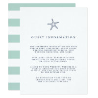 Nautical Starfish Wedding Guest Details Invitation