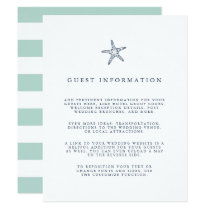 Nautical Starfish Wedding Guest Details Invitation