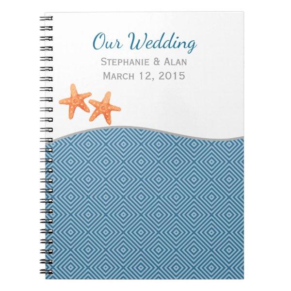 Nautical Starfish Wedding Notebook