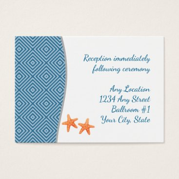 Nautical Starfish Wedding Reception Business Card
