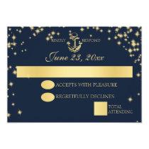 Nautical Starry Sky Twinkle Wedding Response Invitation