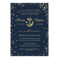 Nautical Starry Sky Wedding Card