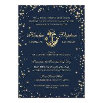 Nautical Starry Sky Wedding Invitation