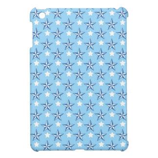 Nautical stars blue cool preppy star pattern iPad mini cover