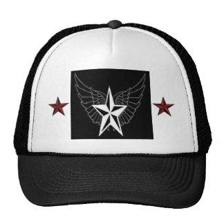 Nautical Stars with Angel Wings Baseball Hat