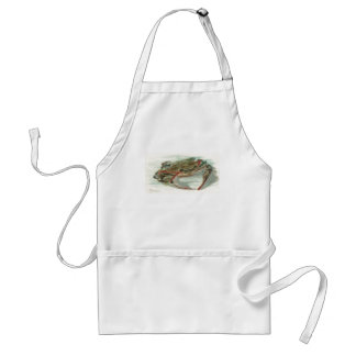 Nautical steampink vintage crab book drawing adult apron