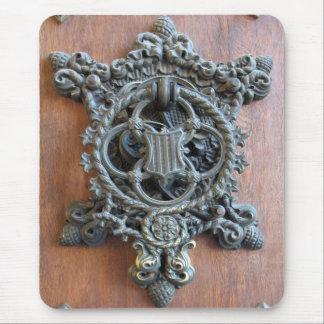Nautical steampunk brass iron knocker photo mouse pad