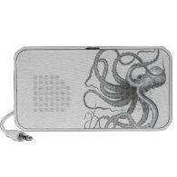 Nautical steampunk octopus doodle speaker