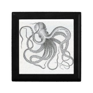 Nautical steampunk octopus jewelry keys gift box