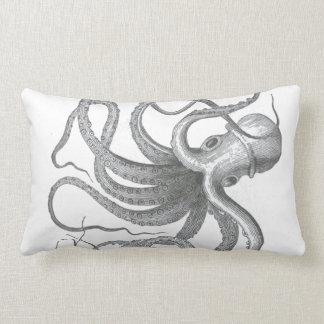 Nautical steampunk octopus Vintage beach kraken Throw Pillow