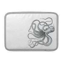Nautical steampunk octopus vintage book drawing MacBook air sleeve