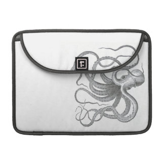 Nautical steampunk octopus vintage book drawing sleeve for MacBook pro