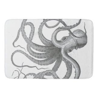 Nautical steampunk octopus Vintage kraken decor Bathroom Mat