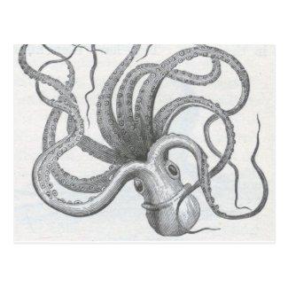Nautical steampunk octopus vintage kraken design
