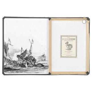 Nautical steampunk octopus vintage kraken drawing iPad air covers