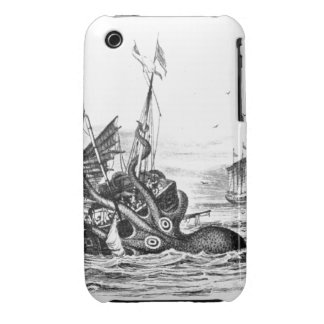 Nautical steampunk octopus vintage kraken drawing iPhone 3 Case-Mate cases