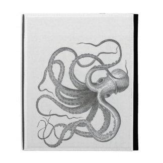 Nautical steampunk octopus vintage kraken drawing iPad case
