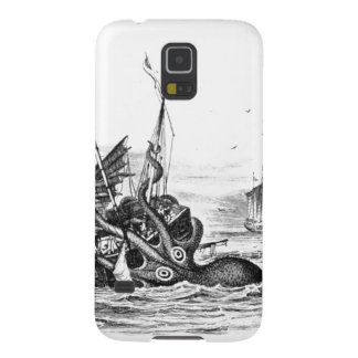 Nautical steampunk octopus vintage kraken drawing case for galaxy s5