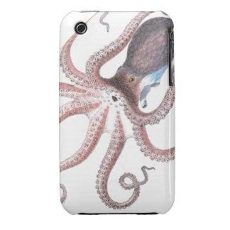 Nautical steampunk octopus vintage kraken drawing iPhone 3 cover