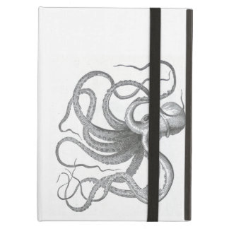 Nautical steampunk octopus Vintage kraken drawing iPad Air Case