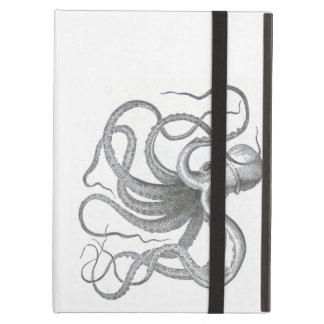 Nautical steampunk octopus Vintage kraken drawing iPad Air Cover