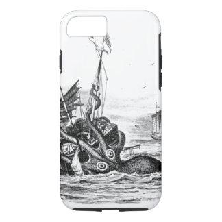Nautical steampunk octopus vintage kraken drawing iPhone 7 case