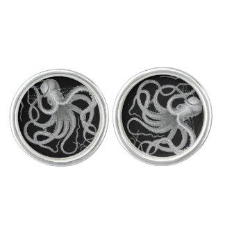 Nautical Steampunk Octopus Vintage Kraken Drawing Cufflinks