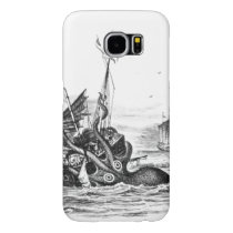 Nautical steampunk octopus vintage kraken drawing samsung galaxy s6 case