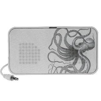 Nautical steampunk octopus vintage kraken drawing laptop speaker