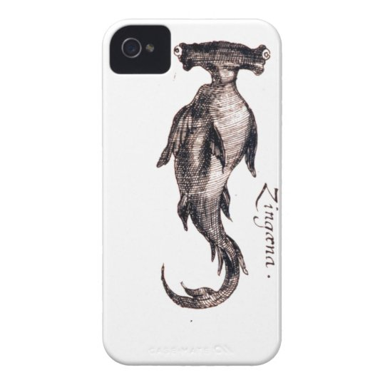 Nautical steampunk vintage sea life book drawing iPhone 4 cover
