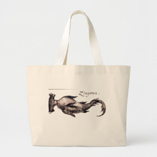 Nautical steampunk vintage sea life book drawing jumbo tote bag
