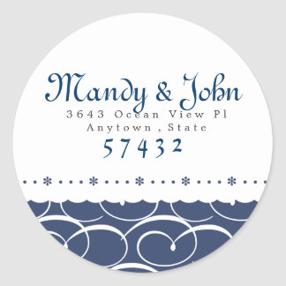Nautical Sticker Label