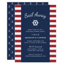 Nautical Stripe Rehearsal Dinner Invitation
