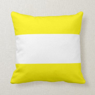 Beach Themed Nautical striped pillow in Buttercup Yellow