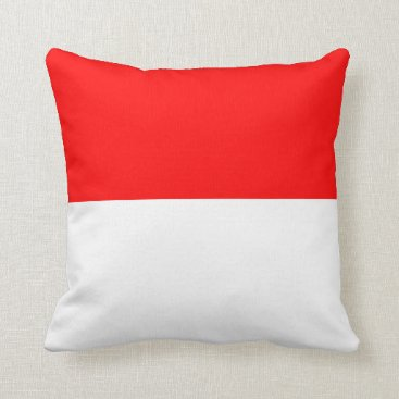 Beach Themed Nautical striped pillow in Cardinal Red