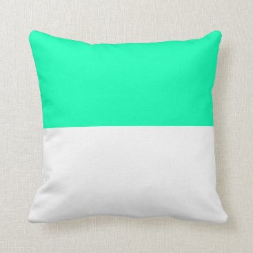 Beach Themed Nautical striped reversible pillow in Aqua