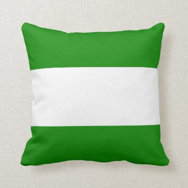 Beach Themed Nautical striped reversible pillow in Frog Green