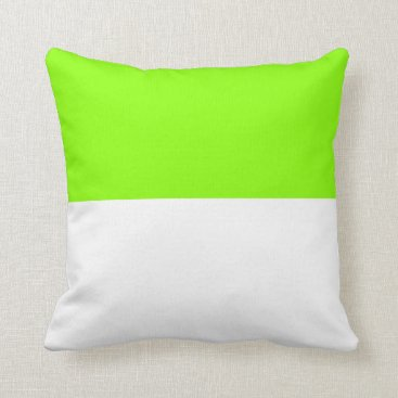 Beach Themed Nautical striped reversible pillow in Grass Green