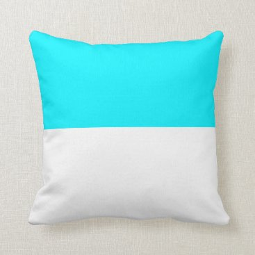 Beach Themed Nautical striped reversible pillow in Sky Blue