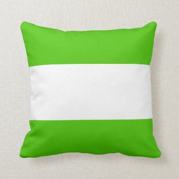 Beach Themed Nautical striped reversible pillow in Spring Green
