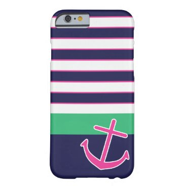 Nautical Stripes and Anchor iPhone 6 case