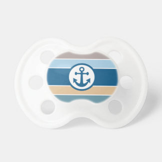Nautical Stripes baby pacifier