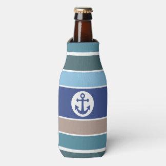 Nautical Stripes custom monogram bottle cooler