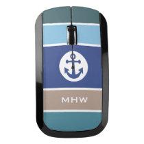 Nautical Stripes custom monogram mouse