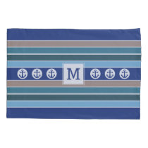 Nautical Stripes custom monogram pillowcases