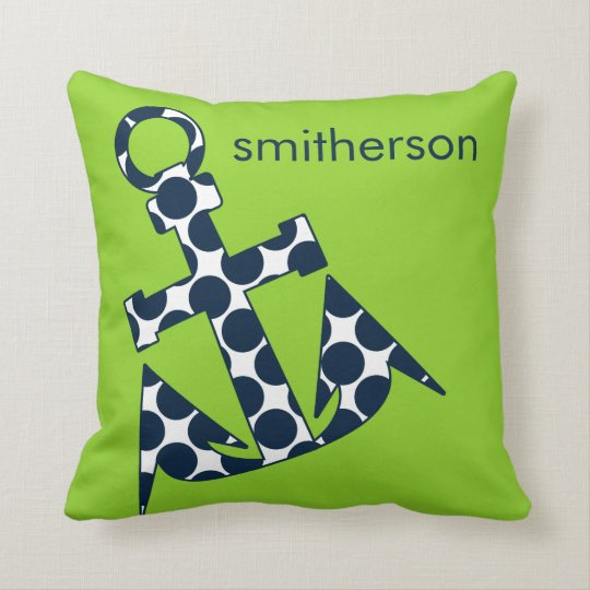 Nautical Stripes Green American MoJo Pillow