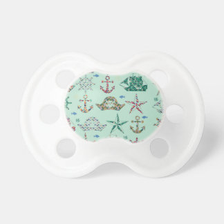 Nautical Stripes Icon BooginHead Pacifier
