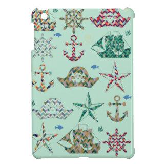 Nautical Stripes Icon iPad Mini Covers